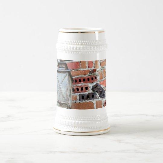 Luz del ladrillo jarra de cerveza