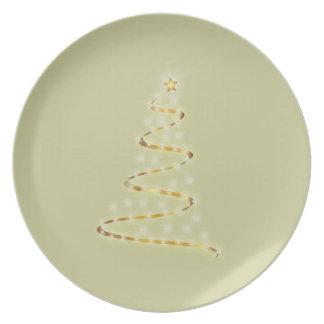 Luz del navidad plato para fiesta