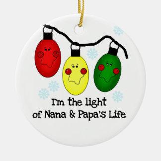 Luz del ornamento modificado para requisitos adorno navideño redondo de cerámica