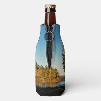 Luz del otoño enfriador de botellas