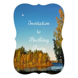 Luz del otoño invitación 12,7 x 17,8 cm