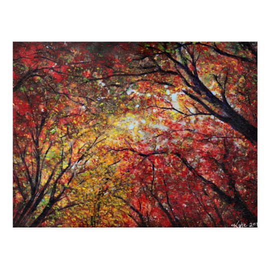 Luz del otoño tarjeta postal