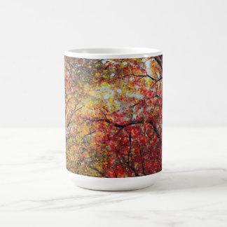 Luz del otoño taza de café