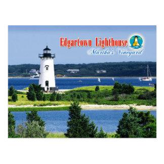 Luz del puerto de Edgartown, Martha's Vineyard, mA Postales