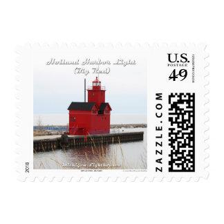 Luz del puerto de Holanda (rojo grande): 1r Timbres Postales