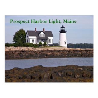 Luz del puerto de la perspectiva, postal de Maine