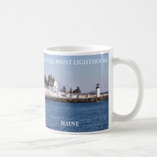 Luz del punto de Marshall, puerto Clyde Maine Taza Clásica