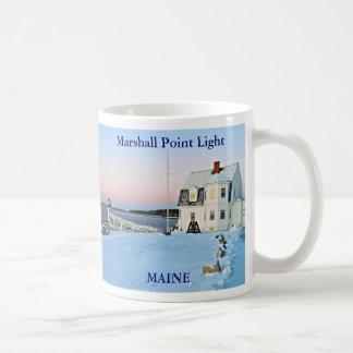 Luz del punto de Marshall, taza de Maine