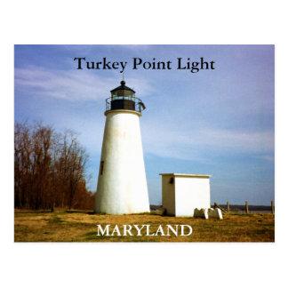 Luz del punto de Turquía, postal de Maryland