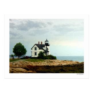 Luz del punto del puerto de la perspectiva tarjeta postal