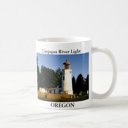 Luz del río de Umpqua, taza de Oregon