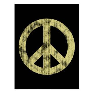 Luz del signo de la paz apenada tarjeta postal