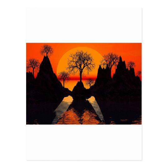 Luz del sol astillada postales