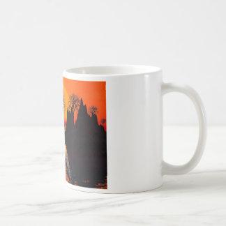 Luz del sol astillada taza de café