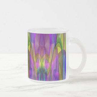 Luz del sol con la mirada del cristal de colores taza cristal mate