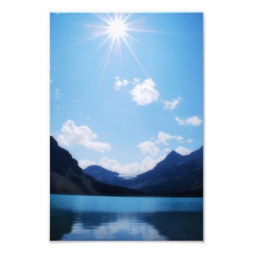 Luz del sol de la montaña A.C. rocosa Fotografía