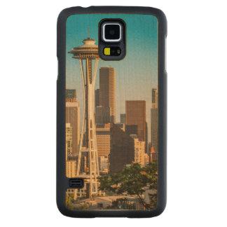 Luz del sol del ajuste en la aguja y la Seattle Funda De Galaxy S5 Slim Arce