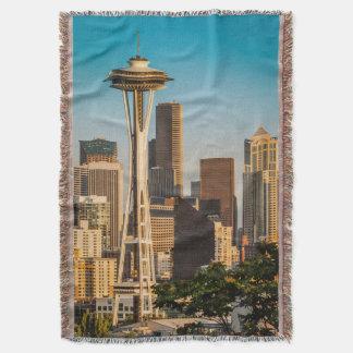 Luz del sol del ajuste en la aguja y la Seattle Manta