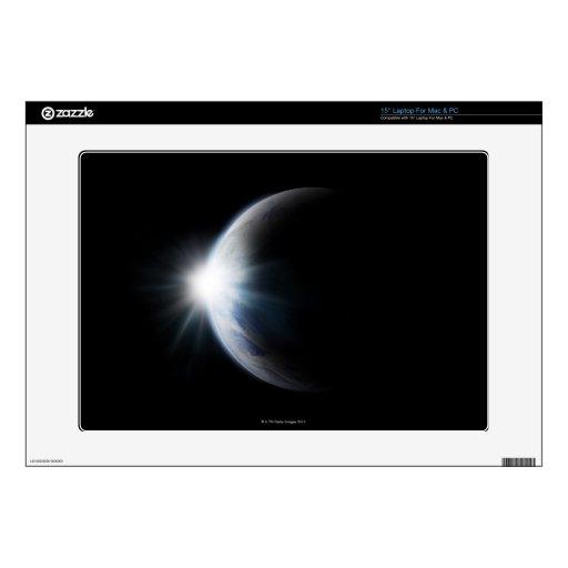 Luz del sol detrás de la luna 38,1cm portátil calcomanía