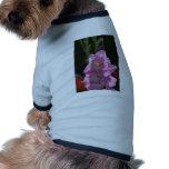 Luz del sol en el gladiolo rosado camisetas de perrito