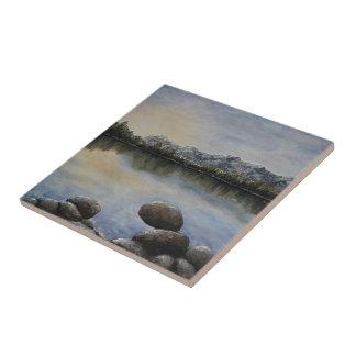 Luz del sol en las rocas del artista fino Alison Teja Cerámica