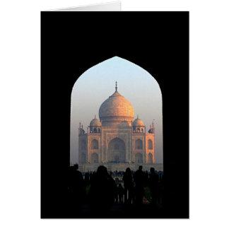 Luz del Taj Mahal de la foto de la arquitectura de Tarjeta Pequeña