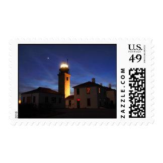 Luz del último del faro de Beavertail Timbre Postal