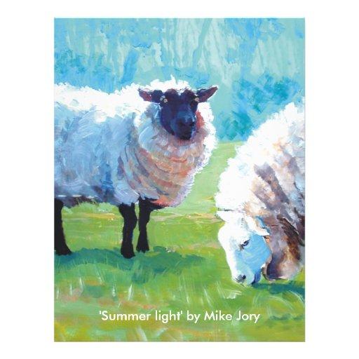 Luz del verano tarjetas informativas