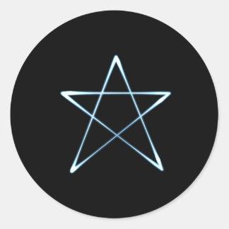 luz del wicca pegatina redonda