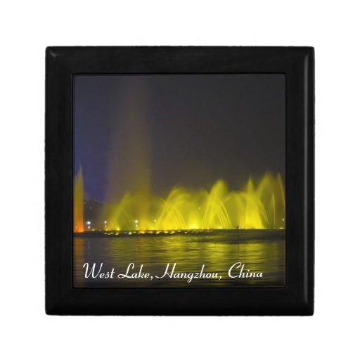 Luz-Demostración colorida del lago del oeste Cajas De Recuerdo