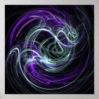 Luz dentro - la violeta y el añil remolina en lona impresiones
