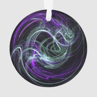Luz dentro, remolino violeta del añil del fractal