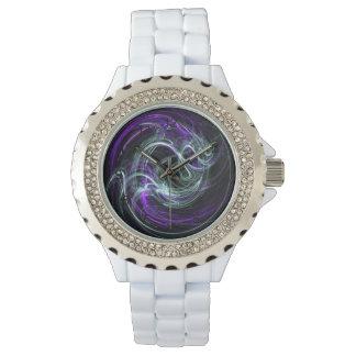 Luz dentro - remolinos abstractos de la violeta y relojes de pulsera