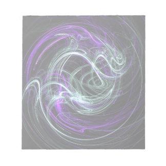 Luz dentro - remolinos de la violeta y del añil blocs