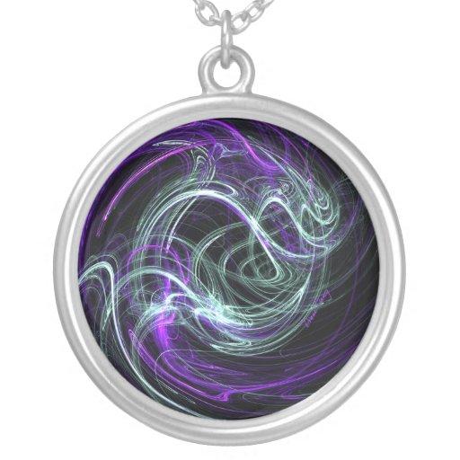 Luz dentro - remolinos de la violeta y del añil pendiente