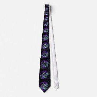 Luz dentro - remolinos de la violeta y del añil corbatas personalizadas