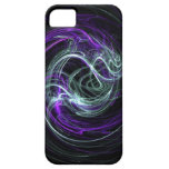 Luz dentro - remolinos de la violeta y del añil iPhone 5 protector