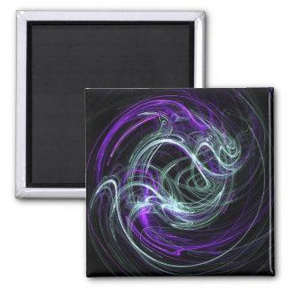 Luz dentro - remolinos de la violeta y del añil iman de nevera