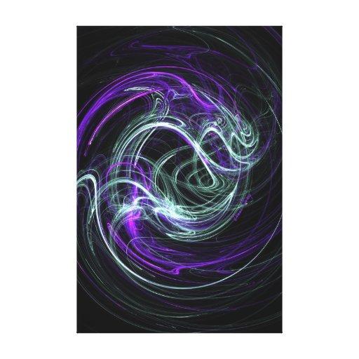 Luz dentro - remolinos de la violeta y del añil impresión en lienzo estirada