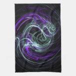 Luz dentro - remolinos de la violeta y del añil toallas