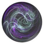 Luz dentro - remolinos de la violeta y del añil plato