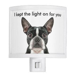Luz divertida de la noche de Boston Terrier Lámpara De Noche