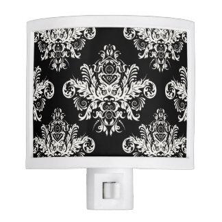 Luz elegante negra y blanca de la noche lámparas de noche