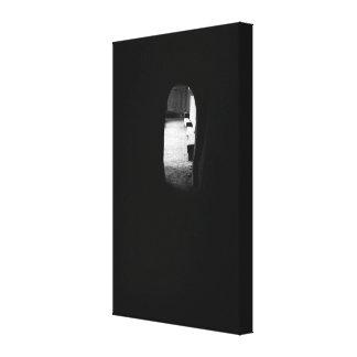 Luz en el extremo del túnel lienzo envuelto para galerías