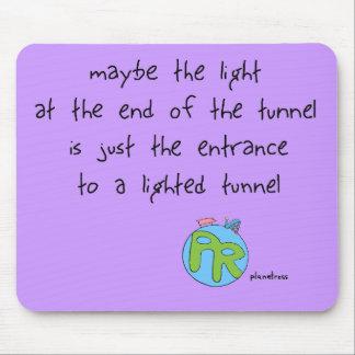 Luz en el extremo del túnel tapetes de raton