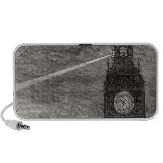Luz en la torre de reloj, casas del parlamento iPhone altavoces