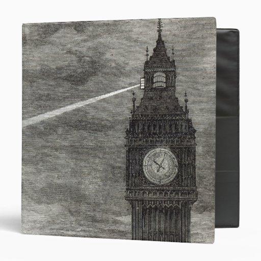 """Luz en la torre de reloj, casas del parlamento carpeta 1 1/2"""""""