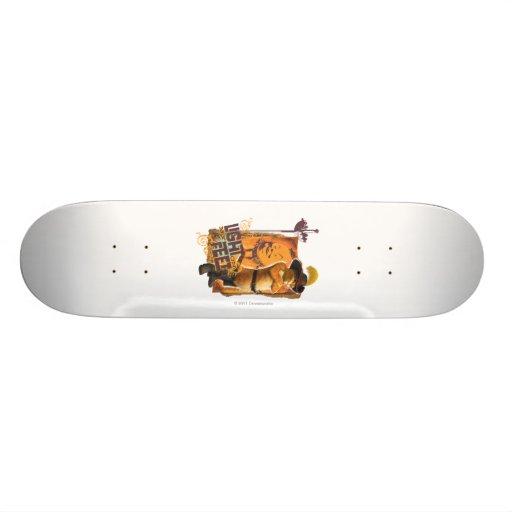 Luz en mis pies patineta personalizada