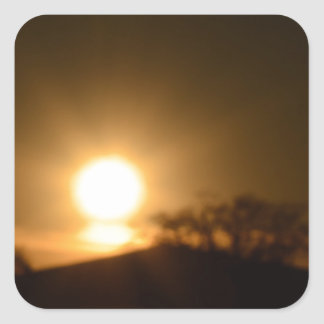 Luz eterna pegatina cuadrada