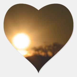Luz eterna pegatina en forma de corazón